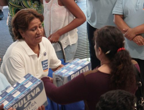 Distribución de leche para más de 170 familias